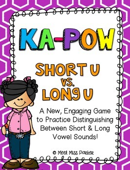Short U & Long U (VCe) Kapow Literacy Center / Game