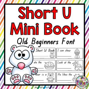 Short U Mini Book QLD Beginners Font: Short Vowels