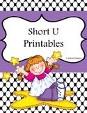 Short U No Prep Printables