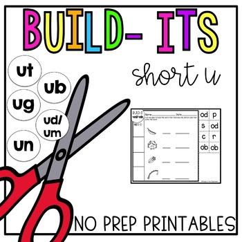 Short U No Prep Printables [Short U Build Its]