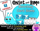 Short U Onset and Rime Matching Game
