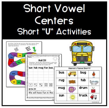 Short U Phonics Centers