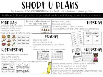 Short U Phonics Instruction Curriculum