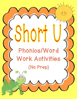 Short U Phonics/Word Work Activities