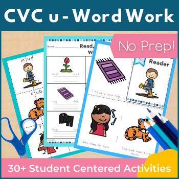 CVC Short U Word Work and Activities
