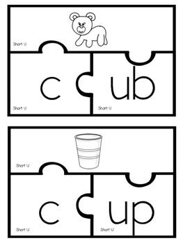 Short U Puzzles (Color & BW)