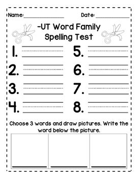 Short U: Spelling Tests