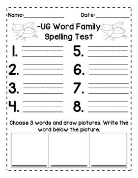 Short U: Spelling Tests