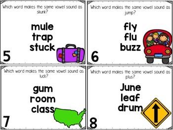 Short U Task Cards