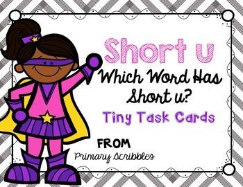 Short U Tiny Task Cards