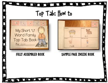 Short 'U' Top Tab Book