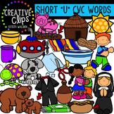 Short U Vowel Clipart CVC {Creative Clips Digital Clipart}