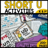 Short U Word Families | Worksheets | Center Activities