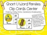 Short U Word Families Clip Cards Center