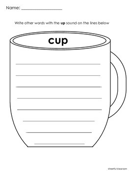 Short U Word Families Graphic Organizers