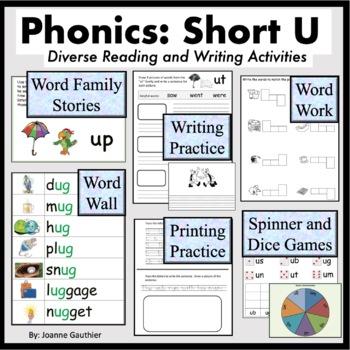 Short U Word Families: Phonics and Writing Fundamentals