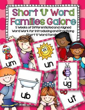 Short 'U' Word Families Word Work Galore Bundle-Differenti