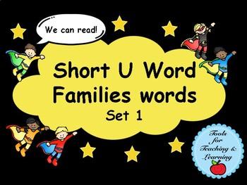 Short U  Word Families Words