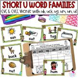 Short U Word Families Write the Room