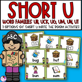 Short U Word Families Write the Room