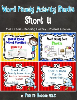 Short U Word Family Activity Bundle