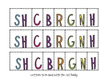 Short-U Word Family Activity Mats