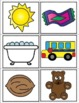Short U Word Family CVC Picture Cards