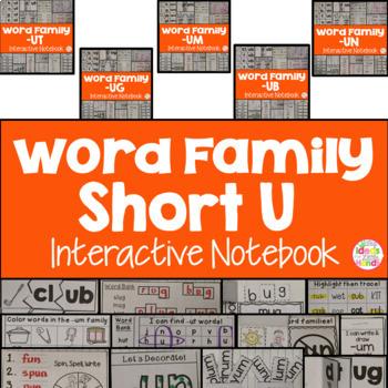 Short U Word Family Interactive Notebooks Bundle