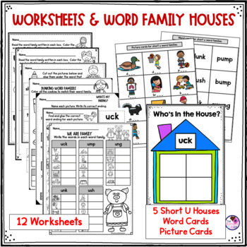 Short U Word Family Word Work and Activities