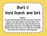 Short U Word Search and Sort