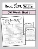 Short Vowel U Worksheets Word Sorts First Grade