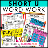 Short U Word Work Activities for Literacy Centers