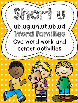 Short U Word Work Activities