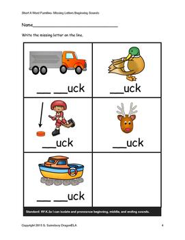 Short U Words Beginning Sounds