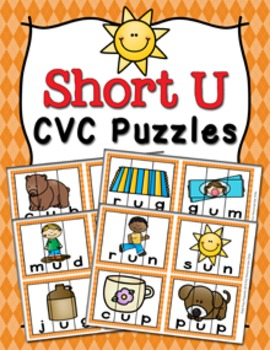 Short U Words CVC Puzzles