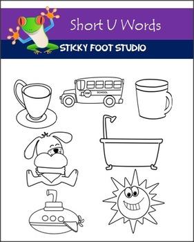 Short U Words Clip Art Set