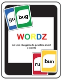 Short U Wordz (an Uno like game to practice short u words)