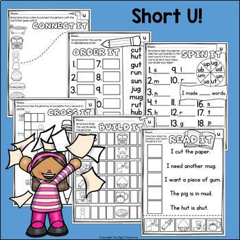 Short U Worksheets and Activities for Early Readers - Phonics