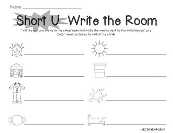 Short U Write the Room {CVC Words}