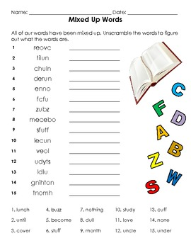 Short U sound Spelling Basic Word Work Packet