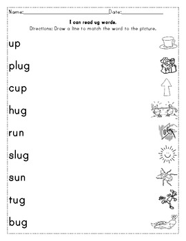 Short Uu Words and Sounds Activity Pack