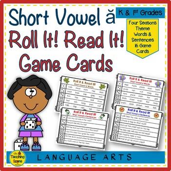 Short Vowel  ă  Roll It! Read It! Game Cards