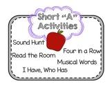 "Short Vowel ""A"" Activities"