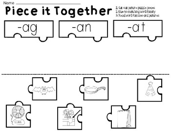 Short Vowel A CVC Activities