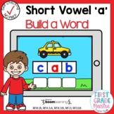 Digital Short Vowel A CVC Build A Word Boom Cards