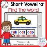 Digital Short Vowel A CVC Find the Word Boom Cards℠