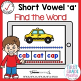 Boom Cards Short Vowel A CVC Find the Word