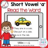 Boom Cards Short Vowel A CVC Read the Word