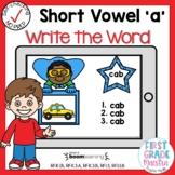 Boom Cards Short Vowel A CVC Write the Word