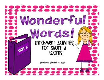 Short Vowel A Enrichment